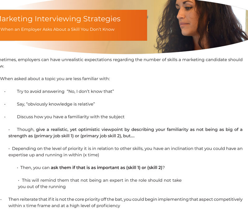 """b2b marketing interviewing"""